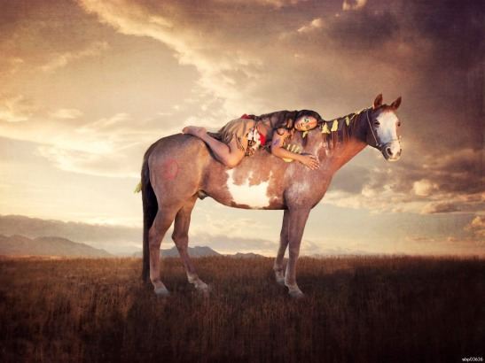 Native-American-Girl-Horse-Sunset-font-b-Indians-b-font-Printing-wall-poster-wbp03636
